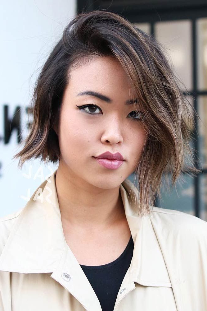 30 Iconic And Contemporary Asian Hairstyles To Try Out Now Regarding Asymmetrical Bob Asian Hairstyles (View 3 of 25)