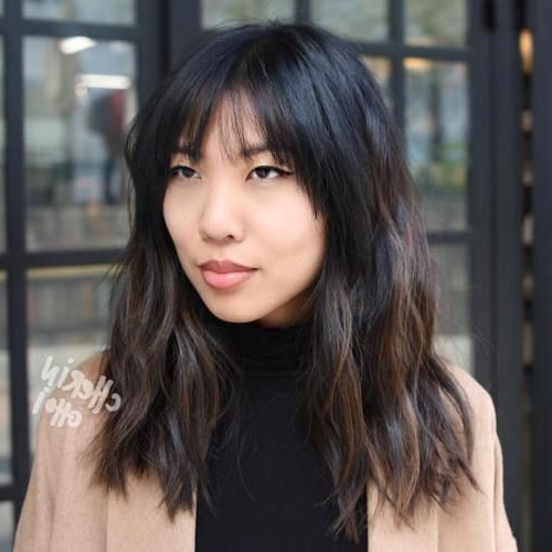 30 Modern Asian Hairstyles For Women And Girls In 2019 In Asian Medium Hairstyles With Textured Waves (View 5 of 25)