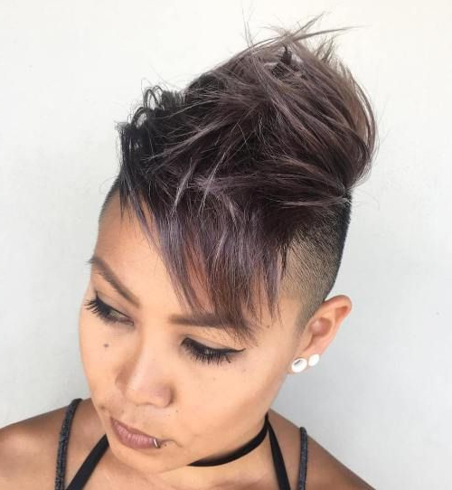 30 Modern Asian Hairstyles For Women And Girls In 2019 With Regard To Icy Purple Mohawk Hairstyles With Shaved Sides (View 2 of 25)
