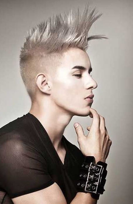 30 Sexy Blonde Hairstyles For Men – The Trend Spotter Regarding Medium Length Blonde Mohawk Hairstyles (View 17 of 25)