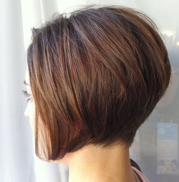 30 Stacked A Line Bob Haircuts You May Like – Pretty Designs With Pink Asymmetrical A Line Bob Hairstyles (View 8 of 25)