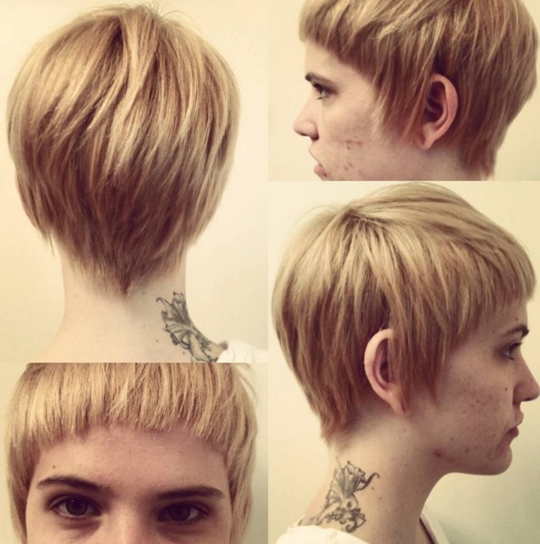 30 Stylish Short Hairstyles For Girls And Women: Curly, Wavy Regarding Blonde Pixie Haircuts With Curly Bangs (View 11 of 25)