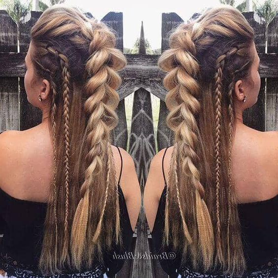 33 Cool Braids Festival Hairstyles With Blue Braided Festival Hairstyles (View 15 of 25)