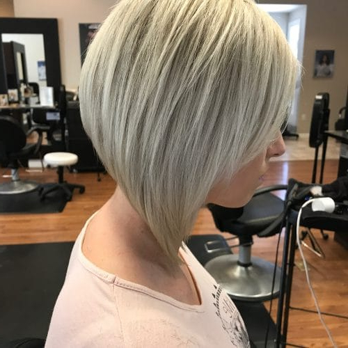 33 Hottest A Line Bob Haircuts You'll Want To Try In 2019 For Pink Asymmetrical A Line Bob Hairstyles (View 19 of 25)