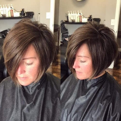33 Hottest A Line Bob Haircuts You'll Want To Try In 2019 Within Pink Asymmetrical A Line Bob Hairstyles (View 5 of 25)
