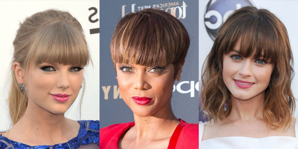 35 Best Hairstyles With Bangs – Photos Of Celebrity Haircuts Regarding Angular Updo Hairstyles With Waves And Texture (View 20 of 25)
