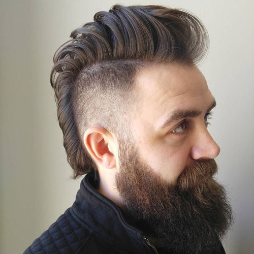 35 Best Mohawk Hairstyles For Men (2019 Guide) Pertaining To Long Hair Mohawk Hairstyles With Shaved Sides (View 5 of 25)