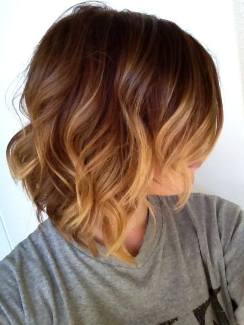 35 Hottest Short Ombre Hairstyles 2020 – Best Ombre Hair Regarding Black To Light Brown Ombre Waves Hairstyles (View 25 of 25)