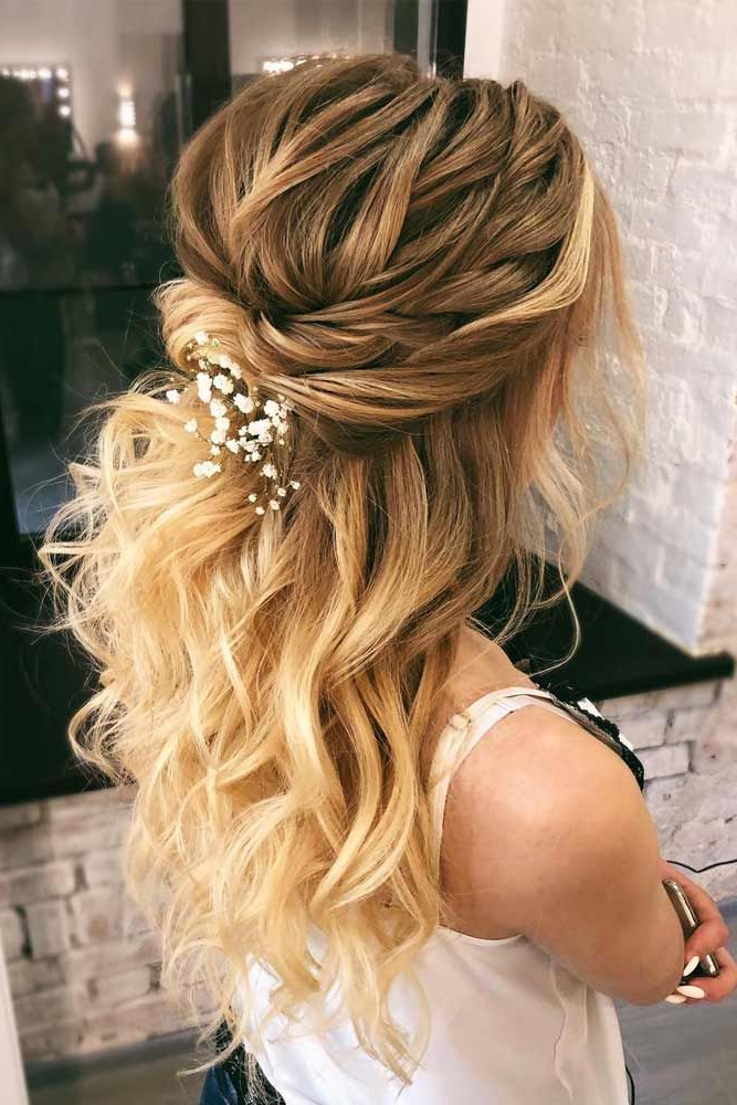 35 Incredible Hairstyles For Thin Hair | Wedding Hairstyles With Long Half Updo Hairstyles With Accessories (View 11 of 25)