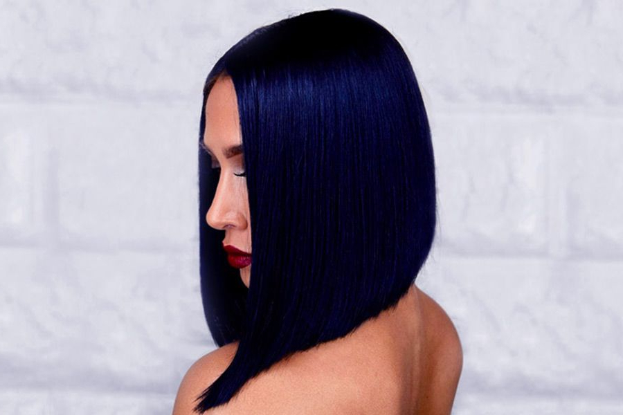 35 Tasteful Blue Black Hair Color Ideas To Try In Any Season Inside Black And Denim Blue Waves Hairstyles (View 25 of 25)