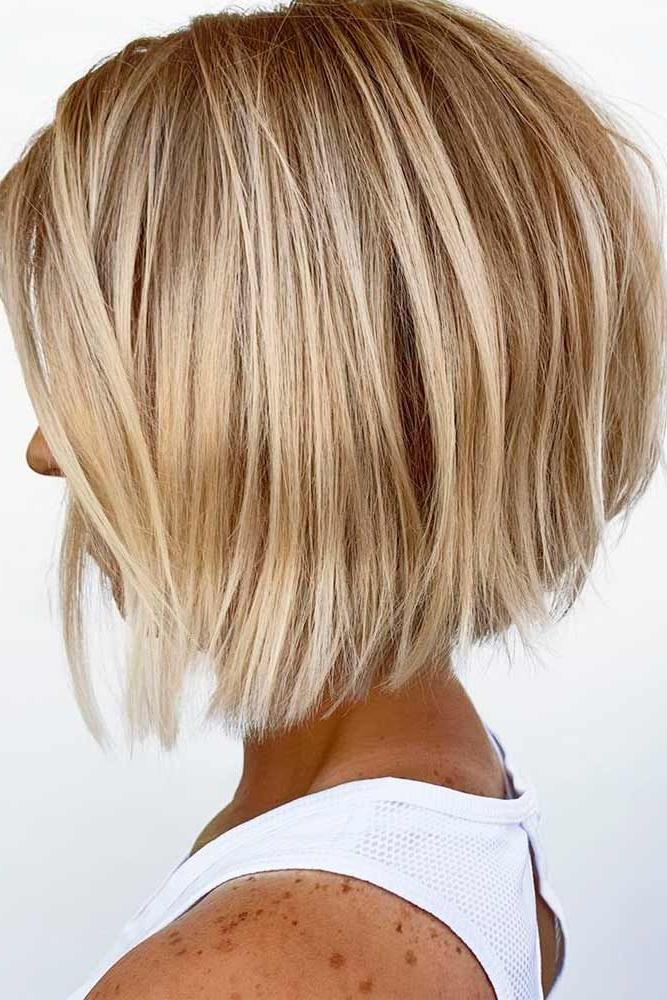 36 Amazing Layered Bob Haircuts: Modern And Stylish | Hair Inside Modern And Stylish Blonde Bob Haircuts (View 3 of 25)