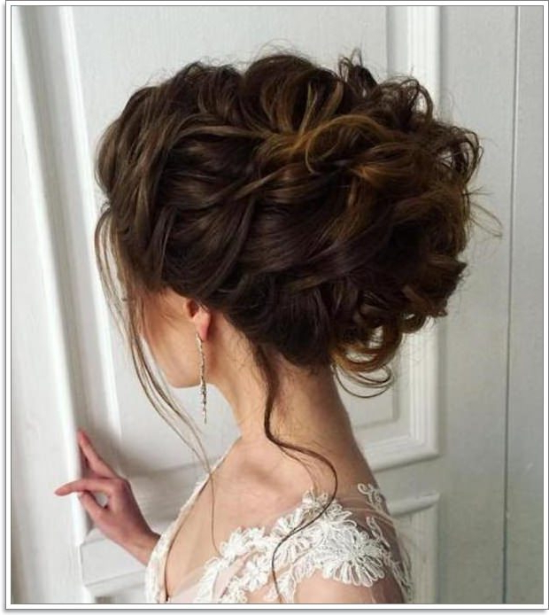 36 Fuss Free Messy Buns You Can Rock From Day To Night Regarding Messy Updo Hairstyles With Free Curly Ends (View 5 of 25)