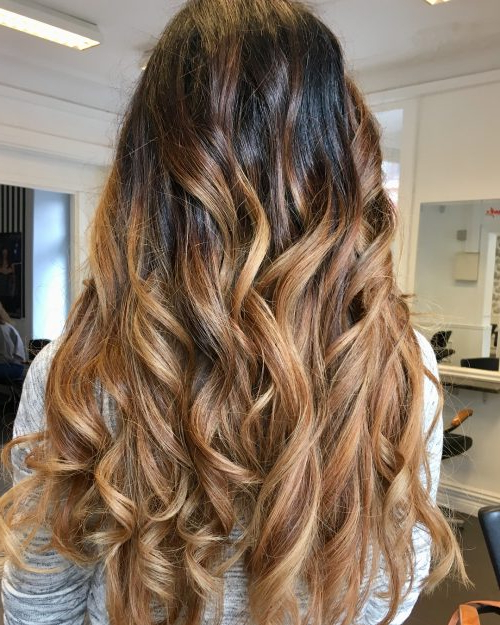 36 Light Brown Hair Colors That Are Blowing Up In 2019 In Black To Light Brown Ombre Waves Hairstyles (View 14 of 25)
