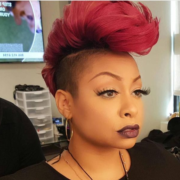 36 Mohawk Hairstyles For Black Women (Trending In November 2019) Intended For Black & Red Curls Mohawk Hairstyles (View 22 of 25)