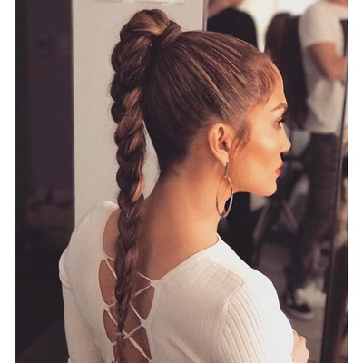 37 Cool Ponytail Hairstyles To Try In 2019 | Glamour Throughout High Looped Ponytail Hairstyles With Hair Wrap (View 5 of 25)