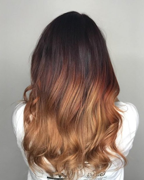 37 Hottest Ombré Hair Color Ideas Of 2019 Within Black To Light Brown Ombre Waves Hairstyles (View 12 of 25)