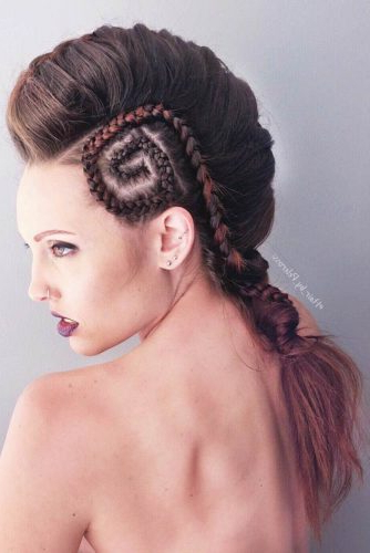 38 Looks With A Faux Hawk For The Bold | Lovehairstyles Regarding Braided Faux Mohawk Hairstyles For Women (View 21 of 25)