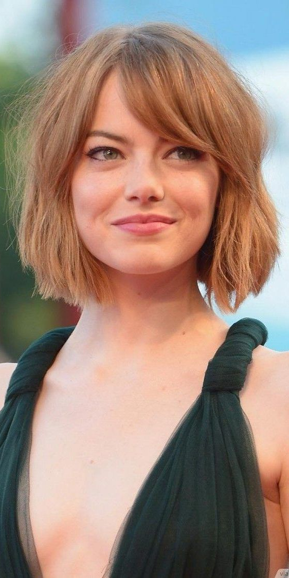 38 Short Layered Bob Haircuts With Side Swept Bangs That Regarding Messy Short Bob Hairstyles With Side Swept Fringes (View 6 of 25)