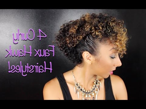 4 Curly Faux Hawk Hairstyles! | Biancareneetoday regarding Short And Curly Faux Mohawk Hairstyles