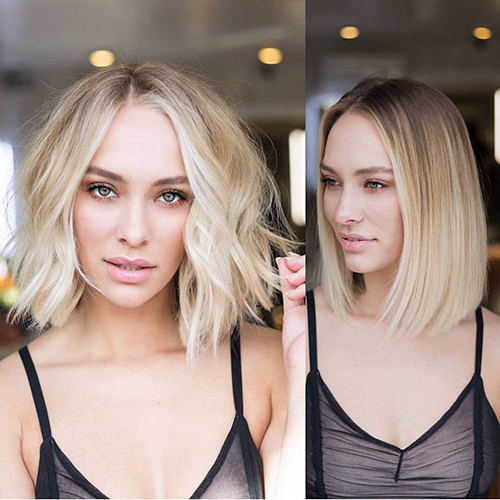 40+ Best Blunt Bob Haircut Ideas 2019 - Short-Hairstyless for Blunt Wavy Bob Hairstyles With Center Part