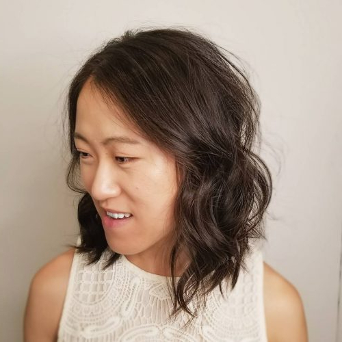 40 Hottest Medium To Shoulder Length Bob Haircuts regarding Asian Medium Hairstyles With Textured Waves