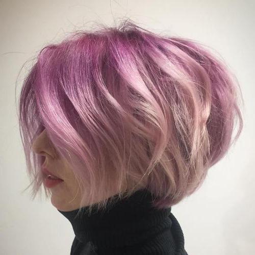 40 Inspiring Short Bob Haircuts And Hairstyles In 2017 in Pink Bob Haircuts