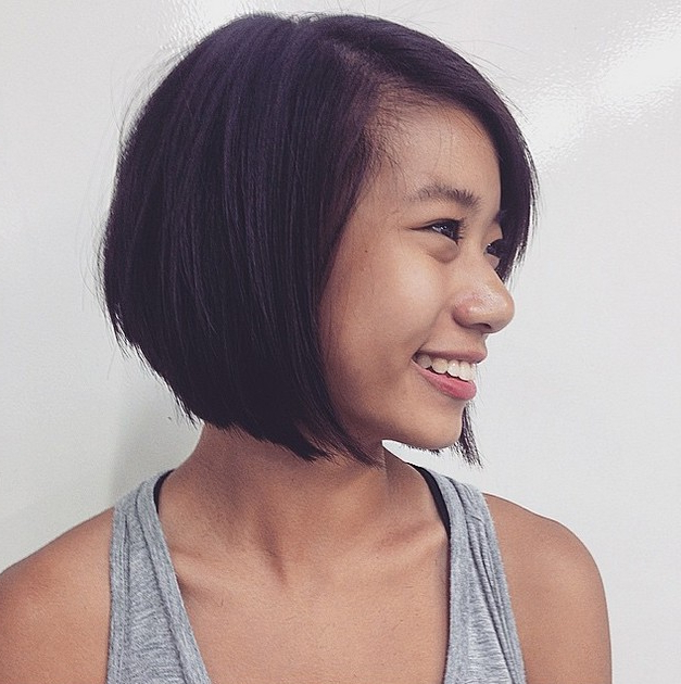 40 Most Flattering Bob Hairstyles For Round Faces 2020 With Regard To Asymmetrical Bob Asian Hairstyles (View 10 of 25)