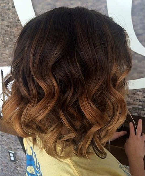 40 On Trend Balayage Short Hair Looks For Black To Light Brown Ombre Waves Hairstyles (View 13 of 25)