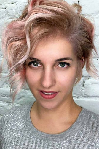 40 Sexy Asymmetrical Bob Haircuts | Lovehairstyles Throughout Wavy Asymmetric Bob Hairstyles With Short Hair At One Side (View 8 of 25)