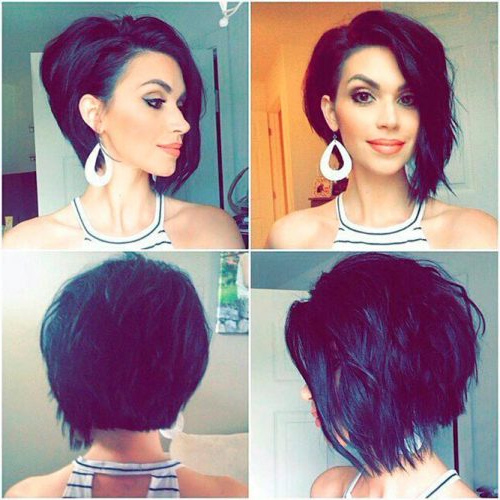 40 Sexy Asymmetrical Bob Haircuts | Lovehairstyles With Wavy Asymmetric Bob Hairstyles With Short Hair At One Side (View 20 of 25)