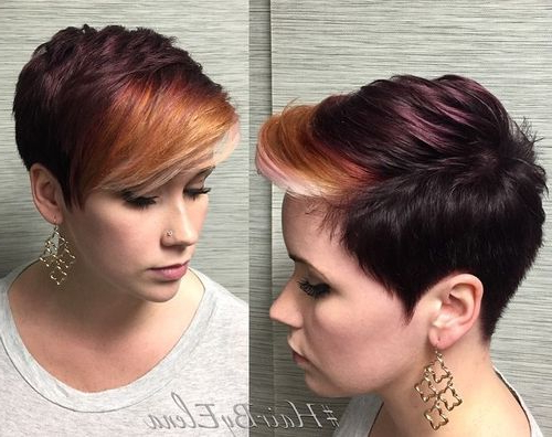 40 Short Haircuts For Girls With Added Oomph With Pastel Pixie Haircuts With Curly Bangs (View 23 of 25)