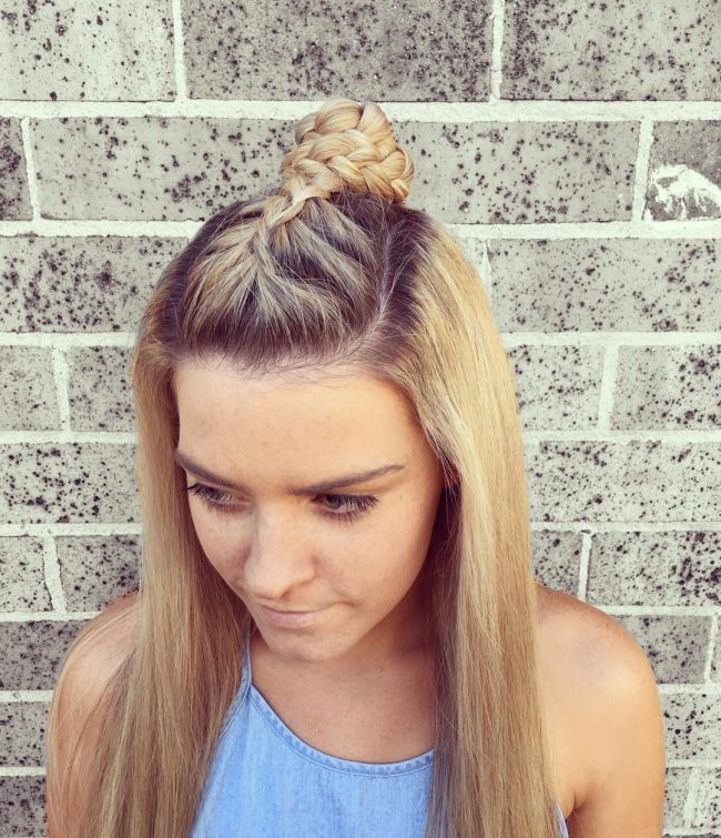 40 Stunning Braided Mohawk Hairstyles — Dare To Try! pertaining to Center Braid Mohawk Hairstyles