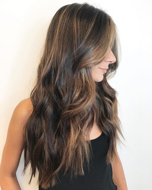 41 Incredible Dark Brown Hair With Highlights (Trending For inside Long Waves Hairstyles With Subtle Highlights