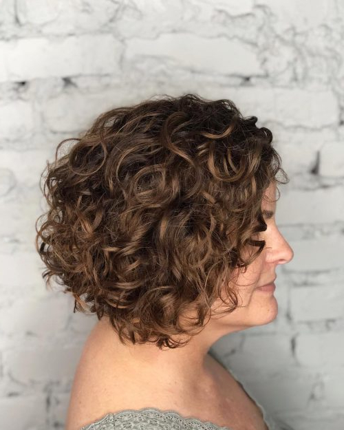 42 Curly Bob Hairstyles That Rock In 2019 for Short Asymmetric Bob Hairstyles With Textured Curls