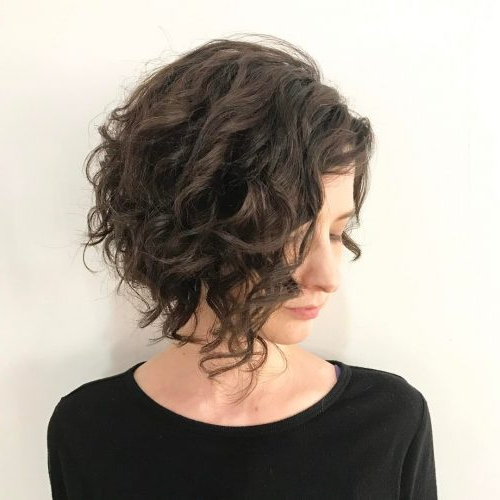 42 Curly Bob Hairstyles That Rock In 2019 in Short Asymmetric Bob Hairstyles With Textured Curls