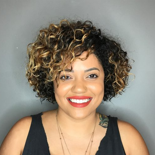 42 Curly Bob Hairstyles That Rock In 2019 With Hairstyles With Fringes, End Curls And Headband (View 25 of 25)