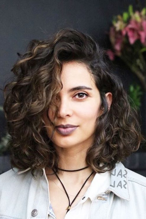 42 Curly Bob Hairstyles That Rock In 2019 within Wavy Long Bob Hairstyles With Bangs