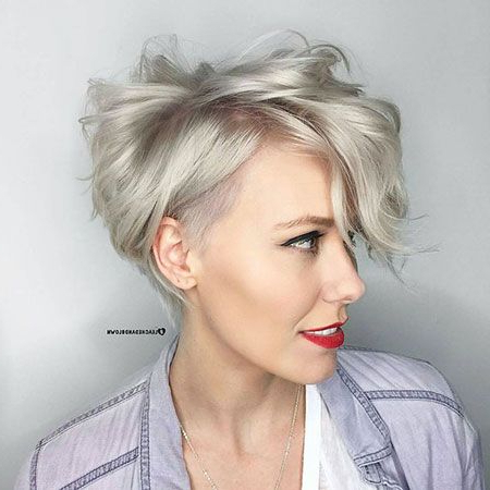 42 Popular Short Pixie Hair | Hair | Long Pixie Hairstyles For Pastel Pixie Haircuts With Curly Bangs (View 3 of 25)