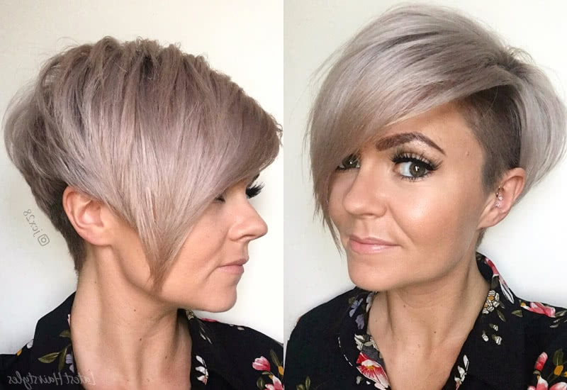 42 Sexiest Short Hairstyles For Women Over 40 In 2019 inside Trendy Pixie Haircuts With Vibrant Highlights