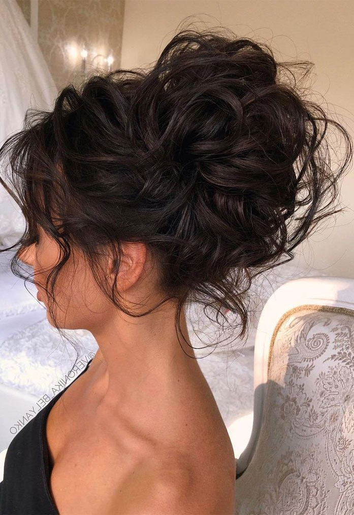 44 Messy Updo Hairstyles – The Most Romantic Updo To Get An For Elegant Messy Updo Hairstyles On Curly Hair (View 3 of 25)