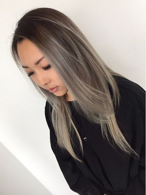45 Best Balayage Hairstyles For Straight Hair For 2019 inside Cool Silver Asian Hairstyles