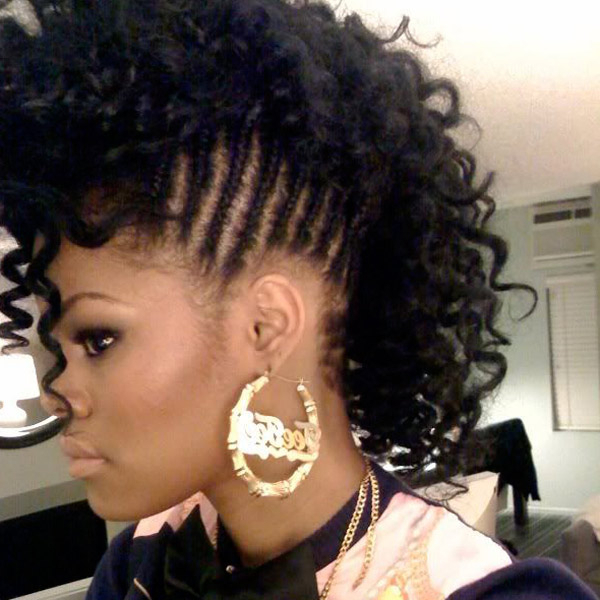 45 Cute Hairstyles For Curly Hair: Curly Hair Styles with Faux Mohawk Hairstyles With Springy Curls