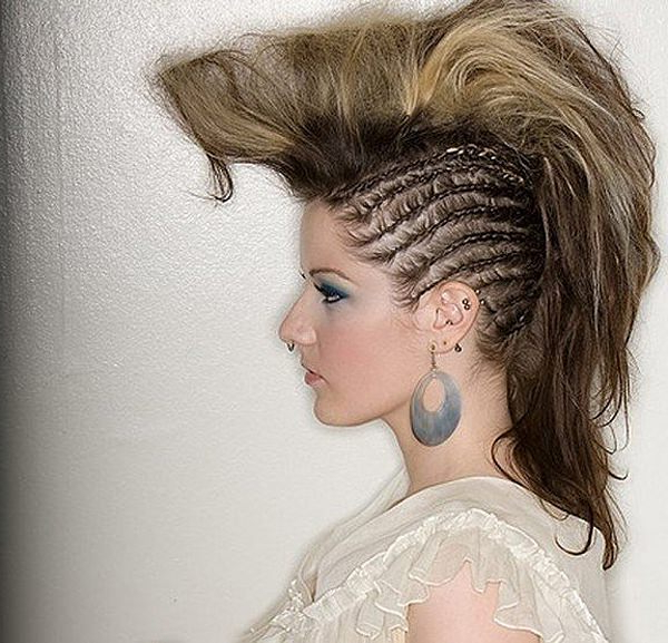 45 Fantastic Braided Mohawks To Turn Heads And Rock This Season for Rocker Girl Mohawk Hairstyles