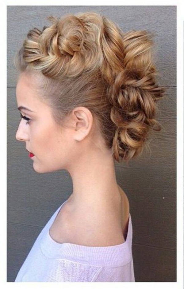 45 Fantastic Braided Mohawks To Turn Heads And Rock This Season regarding Elegant Curly Mohawk Updo Hairstyles