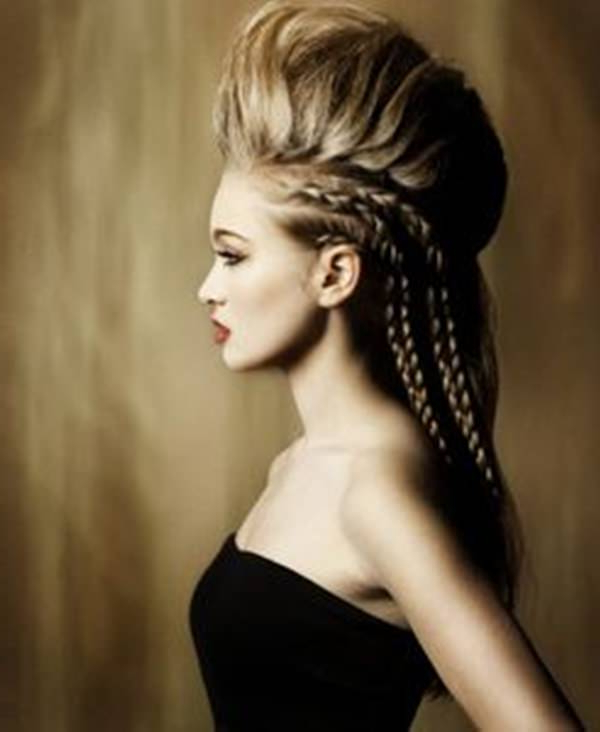 45 Fantastic Braided Mohawks To Turn Heads And Rock This Season regarding Teased Long Hair Mohawk Hairstyles