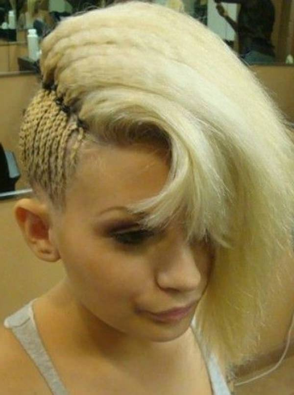 45 Fantastic Braided Mohawks To Turn Heads And Rock This Season Throughout Blonde Curly Mohawk Hairstyles For Women (View 19 of 27)