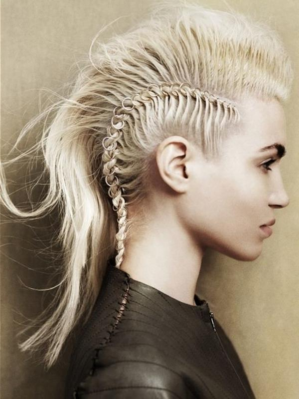 45 Fantastic Braided Mohawks To Turn Heads And Rock This Season with Short Blonde Braids Mohawk Hairstyles
