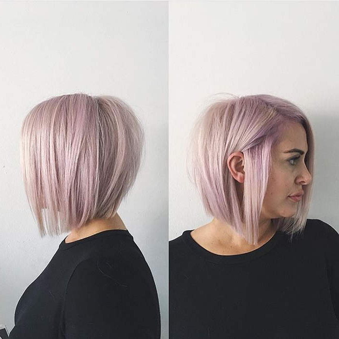 45 Latest Bobs / Bob Hairstyles For Women And Girls pertaining to Pink Bob Haircuts