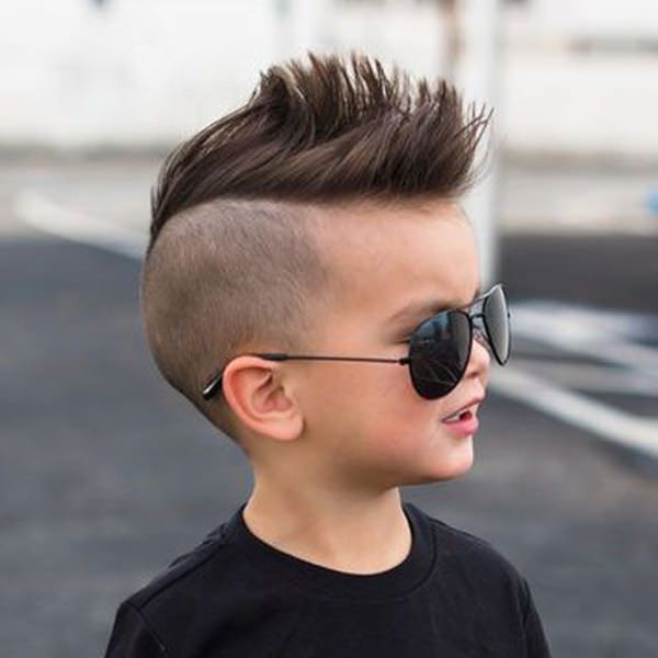46 Edgy Kids Mohawk Ideas That They Will Love throughout Side-Shaved Long Hair Mohawk Hairstyles