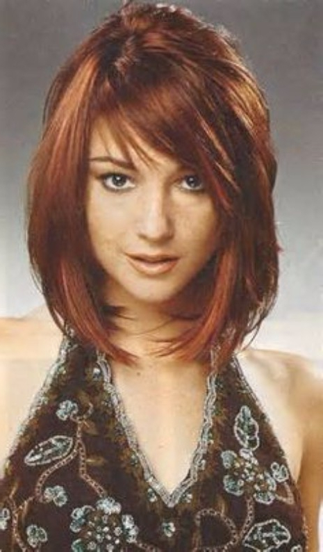 47 Photos Of Red Hair - Hairstyle On Point in Medium-Length Red Hairstyles With Fringes